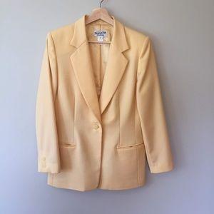 Pendleton Virgin Wool Yellow Blazer Size 8